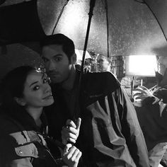 Singing (and shooting) In The Rain w this handsome devil @officialtomellis #LateNightShoots @luciferonfox