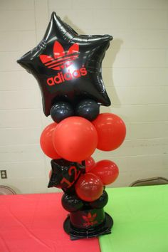 Personalized ADIDAS Red and Black Labels for Balloons. http://stores.ebay.com/MyeFavors/_i.html?_fsub=30030097013