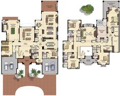 Palazzo New House Plan in The Bridges - Delray Beach Florida Cottage House Plans, Craftsman House Plans, New House Plans, Dream House Plans, Modern House Plans, Small House Plans, House Floor Plans, Delray Beach Florida, Pool House Designs
