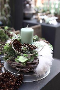 Weihnachtliche Gesteckideen aus dem Cash & Carry Markt Vosteen - www.vosteen.de