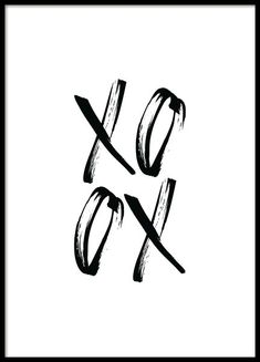 XO Black Poster in the group Prints / Typography & quotes at Desenio AB Black Poster, Gold Poster, Text Poster, Typography Poster, Poster Poster, Handwritten Typography, Chinese Typography, Creative Typography, Poster Layout