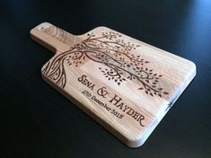 Personalized Cutting Board Wedding gift Hand Burned (pyrography) by StarWoodDesigns