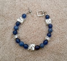 Beaded Horse Bracelet in Blue by Itsallabouthorses on Etsy