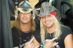 Bret Michaels with Vince Neil.My two favorite boys from the Bret Michaels Poison, Bret Michaels Band, Big Hair Bands, Hair Metal Bands, Rock Star Hair, Rocker Hair, 80s Hair Metal, Vince Neil, Music Like