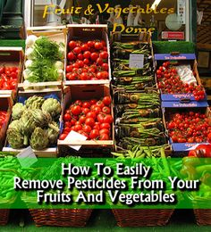 One of your biggest concerns when it comes to vegetables and fruits consumption are pesticides. Here's one extremely useful trick on how to remove pesticides from fruits and vegetables - Removing Pesticides From Your Fruits and Vegetables #health #natural #remedies #fruits #vegetables