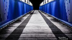 Empty footbridge in town Ruzomberok, Slovakia Urban Photography, Empty, Sidewalk, City Photography, Side Walkway, Walkway, Walkways, Pavement