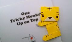 Origami Tiger bookmark /พับที่คั่นหนังสือเสือน้อย