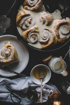Orange Blossom & Honey Cinnamon Buns