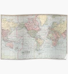 Political world map vintage style poster decorative paper map map posters vintage world gumiabroncs Image collections