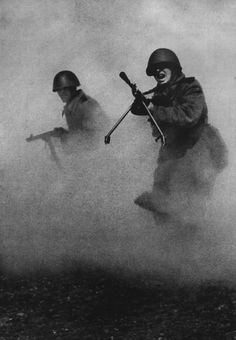 photographer Mark Markov-Grinberg, snapped this pic in 1943. Became one of the most common images of the war, a symbol of courage and heroism of Soviet soldiers.