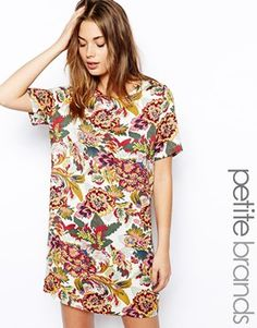 Image 1 of Glamorous Petite Floral Print Shift Dress