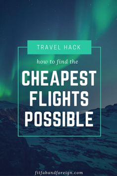 This travel tip is how I traveled most of Europe for under $50! This is the most helpful travel hack I have ever found. How to find the cheapest plane tickets and flights possible.