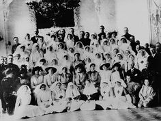 World War One  Anglo-Russian hospital Petrograd. The last of the Romanov Family in the second row from left Marie, Olga, Tsarina, Tatiana, and Anastasia.  Third from the left in the front row is my amazing grandmother Gladys Annie Dinah Statter