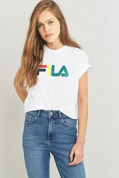 Fila - T-shirt Kate avec logo blanc