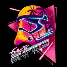 vaporwave dibujos Check out this awesome Galactic+Empire+New+Order. design on TeePublic! Star Wars Fan Art, Affiche Star Trek, Star Wars Tattoo, Star Wars Images, Star Wars Wallpaper, Retro Waves, Flamingo Party, Cultura Pop, Retro Futurism