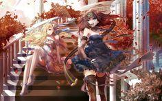 autumn,dress autumn dress stairways anime anime girls 2560x1600 wallpaper – Autumn Wallpapers – Free Desktop Wallpapers