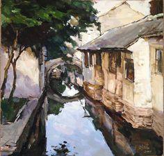 Items similar to Chinese Landscape 2 Original Gouache painting. on Etsy Chinese Landscape, Landscape Art, Gouache Painting, Painting & Drawing, Guache, Chinese Art, Pretty Pictures, Art Pieces, Illustration Art