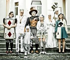 Now these are some very inventive costumes for the wedding party, very cool