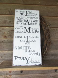 family rules signs, primitive rustic signs, primitive rustic home decor, wood signs, hand painted signs, inspirational signs