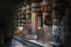 An abandoned mercantile, FULLY STOCKED, found high in the Sierra Nevada Mountains.  I am dying to know this story!