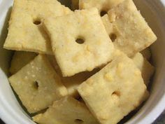 """Living While Living Without: Allergy Free Homemade """"Cheese-Its"""""""