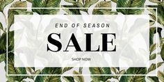 Blog header template - Edit online in Easil: End of season retail sale