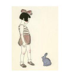 ... au pays des lapins | Artiste : Samantha Battersby