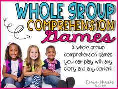 Reading Comprehension Activities for Whole Group Instruction