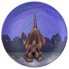 Hound Dog Gifts & Accessories Porcelain Plate