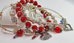 Hey, I found this really awesome Etsy listing at https://www.etsy.com/listing/218907151/valentine-charm-bracelet-set-ii