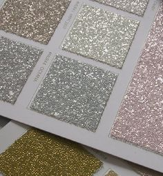 Sparkly, glitter wallpaper! Now this is wallpaper I could get behind! (And so much better than trying to paint with some form of glitter-paint-goo.) So cute for a little girls room.