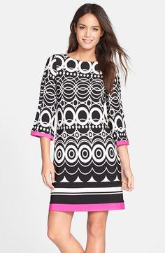 Eliza J Print Jersey A-Line Dress (Regular & Petite) available at #Nordstrom