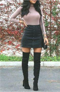 15 Best Winter Outfits With Skirt 15 Melhores Roupas de Inverno com Saia de Outono Cute Going Out Outfits, Cute Casual Outfits, Stylish Outfits, Rock Outfits, Winter Skirt Outfit, Teen Fashion Outfits, Fashion Ideas, Winter Outfits Women, Cute Skirts