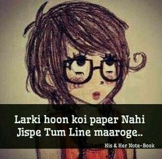 G bilkul princess Annie. Crazy Quotes, Girly Quotes, Cute Quotes, Girl Attitude, Attitude Quotes, Attitude Shayari, Girlish Diary, Facebook Dp, Funny Note