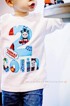 Thomas the Train Personalized Birthday Shirt - 1 MORE LEFT. $21.50, via Etsy.