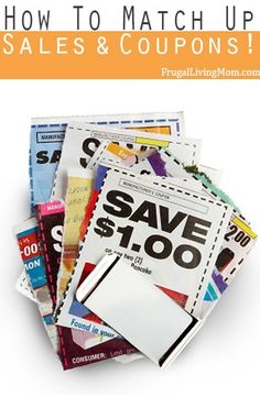 How To Match Up Sales and Coupons! It's easy to match up sales and coupons yourself! In fact I highly recommend everyone know how to do it and not fully depend on someone else to find the deals for you.