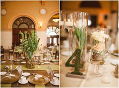 Champagne and Green wedding decor - Minneapolis Depot Hotel #mnbride #mnwedding
