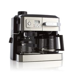 DeLonghi ® Combination Coffee and Espresso Machine | Crate and Barrel