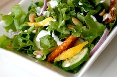 Ginger Coconut Summer Salad With Organic Chicken | The Dr. Oz Show  Although organic chicken is included in macrobiotics, although there are many people who are also vegan, I will substitute tempeh for it in this recipe.