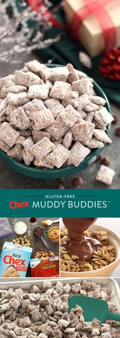 Tis the season for sweetness with our recipe for Gluten-Free Muddy Buddies! This recipe is full of delicious peanut butter and chocolate flavor that everyone can enjoy. Ready in just 15 minutes, Gluten-Free Muddy Buddies are your holiday in the making.
