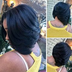 "It can not be repeated enough, bob is one of the most versatile looks ever. We wear with style the French ""bob"", a classic that gives your appearance a little je-ne-sais-quoi. Here is ""bob"" Despite its unpretentious… Continue Reading → Black Girl Bob Hairstyles, Curly Bob Hairstyles, Weave Hairstyles, Curly Hair Styles, Natural Hair Styles, Bob Haircuts, Layered Bob Hairstyles For Black Women, Pretty Hairstyles, Black Hair Styles Bob"