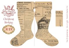 In my Christmas series this year, there are 25 Christmas Stockings, combining various Christmas graphics with a vintage Stocking template. Here is No 19: The original sheets of the Vintage Christma…
