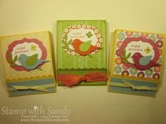 Stamp With Sandy: Post It Note Matchbook Covers