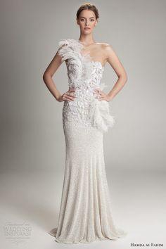 hamda al fahim fall 2012 2013 one shoulder wedding dress