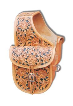 saddlebags Leather Carving, Leather Art, Tooled Leather, Custom Leather, Custom Belts, Leather Tooling Patterns, Rodeo Queen, Saddles, Saddle Bags