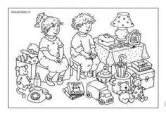 Speelgoed, kleurplaat kleuters, Dagmar Stam , groep 1 en groep 2