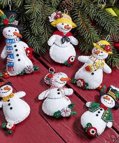 Look what I found on #zulily! Snowman Six-Piece Felt Ornament Kit #zulilyfinds