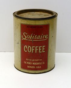 Vintage Coffee Tin Solitaire  Coffee