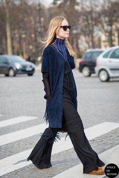 #New on #STYLEDUMONDE http://www.styledumonde.com with @thora_valdimars #ThoraValdimarsdottir at #paris #fashionweek #pfw #stripes #fringe #outfit #ootd #streetstyle #streetfashion #streetchic #streetsnaps #fashion #mode #style