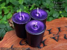 SPIRIT Sacred Elemental Magick Votive Candle Set For Rituals Of Unity & Balance, Higher Consciousness, Goddess Connection, Greater Spirit by DewberrysHerbal on Etsy